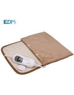 EDM Almohadilla Electrica De Calor Funda Extraible Lavable 40x50cm,100W Ref,07483