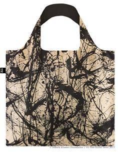 LOQI JP.32 Bolsa Plegable Forma Jackson Pollock nº32 1950 50x42Cms/ Hasta 20 Kgs