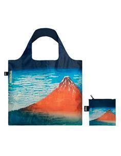 LOQI HO.RF Bolsa Plegable Hokusai Fuji Rojo 50x42Cms/ Hasta 20Kg