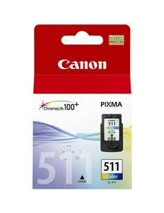 CANON Tinta 511 Color Para PIXMA MP240, MP250, MP260, MP270, MP272, MP480, MP490, MP492, MX320, MX33