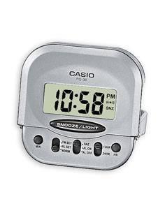 CASIO Reloj Despertador Mod PQ-30-8EF Plata