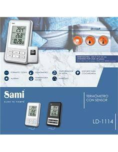 SAMI Estacion Barometrica LD 1114 Con Sensor Temperatura Int, Ext, Termometro, Alarma