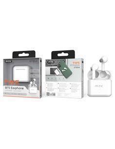 MTK Auricular Bluetooth TWS Con Estuche de Carga CT054 Blanco