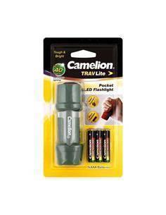 CAMELION Linterna Led de Bolsillo 45 Lumenes Verde Resitente al Agua Incluye 3 Pilas AAA