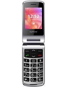 MYPHONE Telefono Movil RUMBA 2 Negro Teclas Grandes, Radio, Bluetooth, Camara, Boton SOS