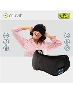 MUVIT Antifaz Con Auriculares Inalambricos Negro
