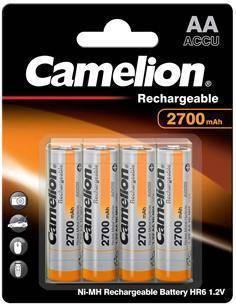 CAMELION Pack 4 Pilas AA Recargable 2700MAH 1.2V BAT375