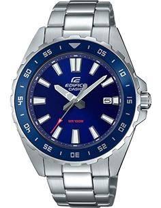 CASIO BRAND EFV-130D-2AVUEF Reloj Edifice Analogico, Acero Inox,Fecha ,Luneta Giratoria,Esfera azul
