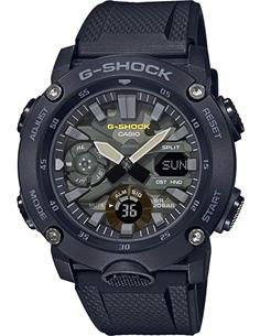 CASIO BRAND GA-2000SU-1AER Reloj G-Shock Analogico, Hora Mundial, 5 Alarmas,Correa Resina Negra TC