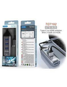 MTK Adaptador Tipo-C/M A Hdmi/H 4K + Hub 3xUsb 3.0 TG7192