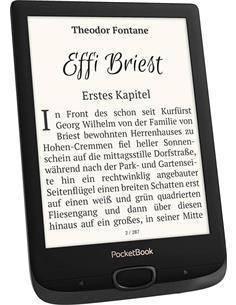 "POCKETBOOK Libro Electronico Basic Lux 2 6"",Wifi,Luz Frontal,8GB,Micro Sd,E Ink Carta"