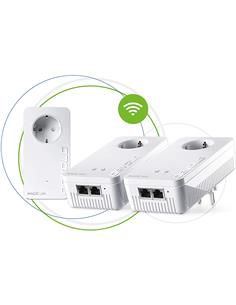 DEVOLO Kit de 3 PLC MAGIC 1 Wifi 2-1-3 Con Enchufe Integrado 1200Mbps 08373