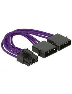DELOCK 83705 Cable 2x Molex/M 4 Pines a 1x PCIe/M 8 Pines