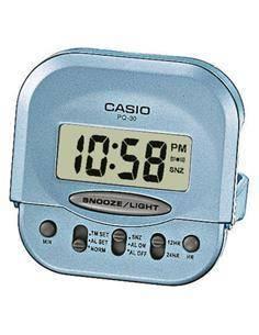 CASIO Reloj Despertador Mod PQ-30-2EF Azul