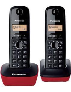 PANASONIC Telefono Inalambrico Duo KX-TG1612 Rojo, Negro