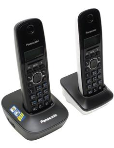 PANASONIC Telefono Inalambrico Duo KX-TG1612 Blanco, Negro