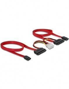 DELOCK 84239 Cable para 2 HDD SATA con Alimentacion