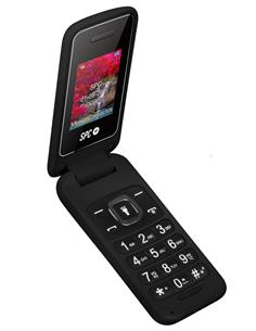 SPC Flip Black 2306N Telefono Movil De Tapa Con Teclas Grandes, Dual Sim, GSM, Radio Fm, Color Negro
