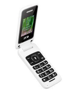 SPC Flip White 2306B Telefono Movil De Tapa Con Teclas Grandes, Dual Sim, GSM, Radio Fm, Color Blanc