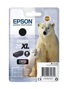 EPSON Tinta 26XL T262140 Negra Para XP-600/605/700/800