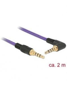 DELOCK 85614 Cable Estereo Jack 3.5mm 4 pines M/M 2Mtrs Violeta
