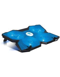 "SPIRIT OF GAMER Base Refrigeradora Para Portatil 17"" Gaming Con Lez Azul AIRBLADE 500 2XUsb"