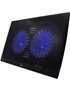 "EWENT Base Refrigeradora Para Portatil 17"" Con Hub 4 Puertos USB EW1257"
