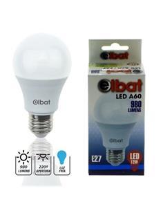 ELBAT Bombilla LED A60 E27, 12W, 980 Lumenes, Luz Fria EB0246