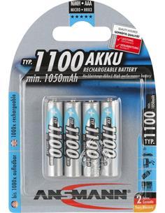 ANSMANN Pila AAA Recargable 1100Mah - Pack de 4
