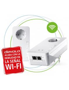 DEVOLO Kit de 2 PLC MAGIC 2 Wifi Next Starter Kit 08623 Con Enchufe Integrado 2400Mbps