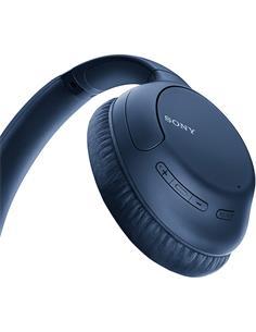 SONY Auricular de Casco Bluetooth WH-CH710N Azul Con Cancelacion de Ruido,Manos Libres.Control Voz