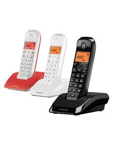 MOTOROLA Telefono Inalambrico Trio S1203 Negro Manos Libre/ID Llamadas/50 Agenda