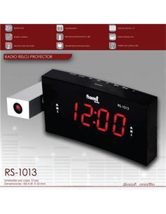 SAMI Radio Despertador Digital RS-1013 con Proyeccion/Reloj/Alarma Doble /Calendario/Usb