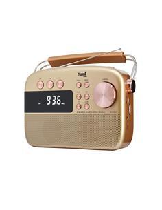 SAMI Radio Bluetooth Con Radio FM/Usb/Aux In Dorado RS-11810