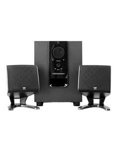 WOXTER Pareja de Altavoces 2.1 Amplificado Big Bass 110 20W Jack 3.5mm, Con Control Volumen