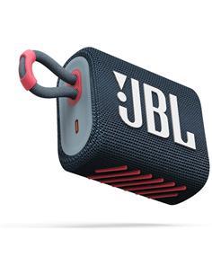 JBL Altavoz Portatil Bluetooth GO3 Azul Rosado Resistente al Agua IP67, Autonomia Hasta 5 Horas