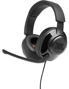 JBL Micro Auricular Casco Gaming Para PC,PS4,Xbox One,Switch QUANTUM 200 Negro, Cable,Jack 3.5m