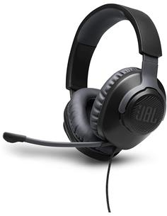 JBL Micro Auricular Casco Gaming Para PC,PS4,Xbox One,Switch QUANTUM 100 Negro Con Cable,Jack 3.5m