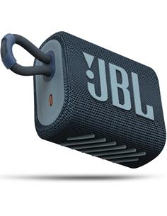 JBL Altavoz Portatil Bluetooth GO3 Azul Resistente al Agua IP67, Autonomia Hasta 5 Horas