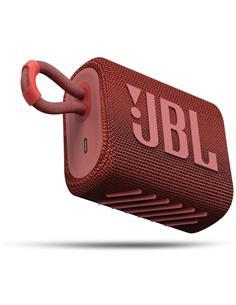 JBL Altavoz Portatil Bluetooth GO3 Rojo Resistente al Agua IP67, Autonomia Hasta 5 Horas
