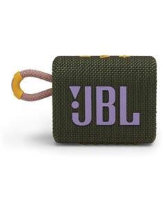 JBL Altavoz Portatil Bluetooth GO3 Verde Resistente al Agua IP67, Autonomia Hasta 5 Horas