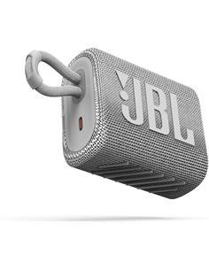 JBL Altavoz Portatil Bluetooth GO3 Blanco Resistente al Agua IP67, Autonomia Hasta 5 Horas