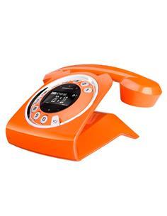 SAGEMCOM Telefono Inalambrico SIXTY Naranja Manos Libre/20 Mins Contestador/Agenda 150 Nombres