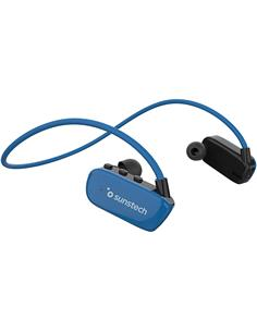SUNSTECH Reproductor Mp3 8Gb/Bluetooth Deportivos Azul ARGOS HYBRID Sumergible 3 Mtrs IPX8