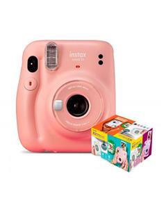 FUJIFILM Kit Camara Instax Mini 11 Rosa+ 20 Hojas+Album Mr Wonderful