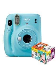 FUJIFILM Kit Camara Instax Mini 11 Azul Cielo+ 20 Hojas+Album Mr Wonderful