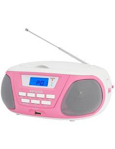 AIWA Radio CD Portatil Bluetooth BOOMBOX BBTU-300PK Rosa Usb,Mp3,Aux In
