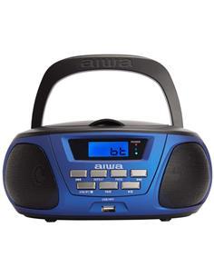 AIWA Radio CD Portatil Bluetooth BOOMBOX BBTU-300BL Azul Usb,Mp3,Aux In