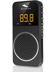 SYTECH Radio Portatil Bolsillo Digital FM SY-1676 PL Negra, Micro Sd,40 Presintonias
