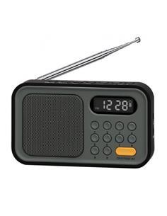 SYTECH Radio Portatil Digital AM/FM SY-1648 Negra Funcion Reloj y Despertador